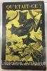 Qu'était-ce ? et autres récits. Traduit de l'anglais par Jacques Papy. Avant-propos de Henri Parisot. Couverture de Max Ernst.. FITZ-JAMES (O'Brien). ...