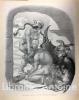 """""""La bêtise au front de taureau est vaincue par la France"""". WILLETTE (Adolphe). [AFFICHE DE GUERRE] [CARICATURE]"""