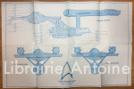 Plan de l'U.S. Enterprise. Star Trek. The role playing game U.S.S. Enterprise. 15 mm deck plans. . [STAR TREK]