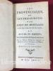 Les Provinciales ou lettres écrites par Louis de Montalte à un provincial de ses amis et aux RR. PP. Jésuites sur la morale et la politique de ces ...