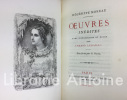 Oeuvres inédites avec introduction et notes par Armand Lebailly. Eau-forte de Staal. Collection du bibliophile français.. MOREAU (Hégésippe)
