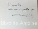Croyant nommer. Vingt-six dessins originaux de Jean Bazaine.. ESTEBAN (Claude). BAZAINE (Jean)