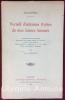 Recueil d'aulcunes Rymes de mes Jeunes Amours. Première édition intégrale augmenté des autres poésies de l'auteur, publiée avec préface, dépouillement ...