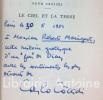 Le Ciel et la Terre. Roman traduit de l'italien par Lucien Colonna.. COCCIOLI (Carlo)