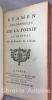 Examen philosophique de la poésie en général. [précédé de l'Histoire de l'Académie Française de 1652 jusqu'à 1700.]. REMOND DE SAINT-MARD  (Toussaint) ...
