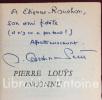 Pierre Louÿs inconnu. Documents et textes inédits de l'auteur d'Aphrodite et de Bilitis.. CARDINNE-PETIT (René)