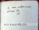 Des magistrats d'autrefois, des magistrats de la évolution, des magistrats à venir. Par M. Dupin Aîné, Avocat.. DUPIN (André)