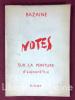 Notes sur la peinture d'aujourd'hui.. BAZAINE