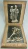 Album de photographies en noir et blanc de l'atelier de sculpture de Charles Emile Jonchery.. [Album de photographies]