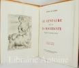 Le Centaure. suivi de La Bacchante. Préface d'Edmond Pilon. Pointes sèches d'André Michel.. GUERIN (Maurice de). MICHEL (André).