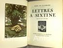 Lettres à Sixtine. Bois gravés de Paul Baudier. GOURMONT (Remy de). BAUDIER (Paul).