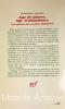 Age de pierre, âge d'abondance. L'économie des sociétés primitives. Traduit de l'anglais par Tina Jolas/ Préface de Pierre Clastres.. SAHLINS ...