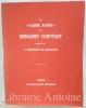 Le Cahier rouge de Benjamin Constant, publié par L. Constant de Rebecque.. CONSTANT (Benjamin).