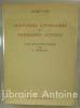 Souvenirs littéraires et problèmes actuels. Allocution et conférence prononcées à Beyrouth en avril 1946 avec deux présentations de G. Bounoure.. GIDE ...