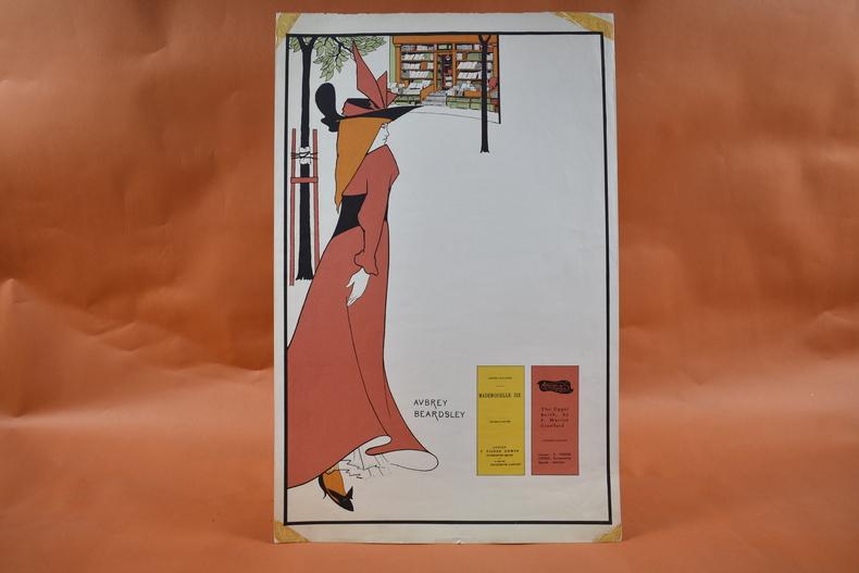 Affiche art nouveau - Librairie T. Fisher - Aubrey Beardsley   .