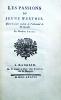 Les Passions du Jeune Werther. Ouvrage traduit de l'allemand de M. Goethe, par M. Aubry.. GOETHE (Johann Wolfgang von), BACULARD d'ARNAUD (F.T.M. de)