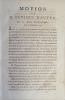 Motion de l'évêque d'Autun [Talleyrand] sur les biens ecclésiastiques du 10 Octobre 1789.. TALLEYRAND (Charles Maurice de)