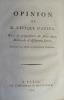 Opinion de M. l'évêque d'Autun [Talleyrand], Sur la proposition de faire deux milliards d'Assignats forcés.. TALLEYRAND (Charles Maurice de)