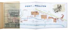 Sociétés des Fonderies de Pont à Mousson. Usine de Pont à Mousson.. PONT-A-MOUSSON (PLAN DES USINES)