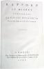 Rapport et décret concernant la Caisse d'Escompte.. [ANSON (Pierre Hubert), LAVOISIER (Antoine-Laurent)]