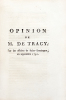 Opinion de M. de Tracy, sur les affaires de Saint-Domingue.. DESTUTT DE TRACY (Antoine Louis Claude)