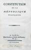 Constitution de la République Française [du 5 Fructidor, an III].. REVOLUTION FRANCAISE - CONSTITUTION DE L'AN III
