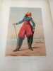 Types Militaires. France 1862 Chasseur d'Afrique Petite tenue. Galerie Militaire de Toutes les Nations planche 24. RENARD (Jules) DRANER