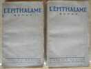 L'épithalame - 2 Tomes - Complet. CHARDONNE Jacques