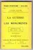 La Guerre et les Monuments. Cathédrale de Reims. Yprès. Louvain. Arras. avec 32 illustrations. Pages d'histoire 1914-1915 n°64. MAGNE Lucien