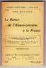 Le retour de l'Alsace-Lorraine à la france. Protestations solennelles à l'assemblée nationale de Bordeaux et au Reichstag. Ordres du jour de la ...