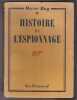 Histoire De L'espionnage. RAY Oscar