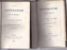 Essais De Littérature et De Morale Nouvelle Édition Revue Par L'auteur. SAINT MARC GIRARDIN