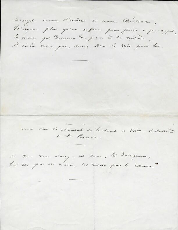 Victor HUGO Poème autographe. Victor HUGO