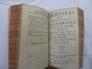 Mémoires du Mareschal de Gramont, Duc et Pair de France, Commandeur des Ordres du Roy, Gouverneur de Navarre et Béarn.. GRAMONT (Antoine III, duc de) ...
