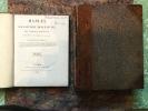 Manuel d'ANATOMIE DESCRIPTIVE DU CORPS HUMAIN représentée en planches lithographiées . CLOQUET Jules Chirurgien adjoint de l'Hôpital Saint-Louis, ...