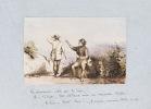 Album de dessins en noir ou aquarellés réalisés par l'auteur lors d'un séjour en Bretagne, à Kervergant, dans la propriété de l'armateur Raymond de ...