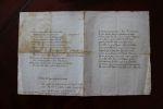 Manuscrit - poème paru en 1791 dans l'Almanach des muses - L'avare bon calculateur - Paradis, enfer, purgatoire. Manuscrit fin 18ème - Anonyme - Grec ...