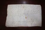 reçu daté du 27 novembre 1584.. Jehan de Juge, conseiller du Roy, en la généralité de Limoges (Limousin)