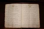 Procès-verbal d'une vente aux enchères faite au château de la Roche, paroisse d'Augan.. [Bretagne, Augan - Morbihan, Bréal - Ille-et-Vilaine]