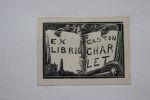 Ex-libris.. Gaston Charlet (1902-1973) homme politique (propriétaire), Ex-libris.
