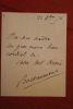 Lettre autographe signée à Aurélien Scholl. Bachaumont, Emile Gérard dit (mort en 1891), journaliste au Voltaire