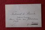 Lettre autographe signée à Aurélien Scholl. Ferdinand de Brezetz, « publiciste financier », de Bordeaux