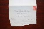 Lettre autographe signée. Marcel Habert (1862-1937), homme politique, nationaliste, ami de Déroulède.