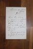 Lettre autographe signée à Aurélien Scholl. Clément Laurier (1832-1878), avocat, homme politique, ami de Gambetta. Scholl aura un rôle dans la ...