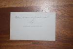 Carte autographe signée à Aurélien Scholl. Edmond Lepelletier (1846-1913), journaliste, poète, homme politique.