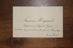 Carte autographe à Aurélien Scholl. Francis Magnard (1837-1894), journaliste, assistant de Villemessant au Figaro.