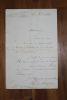 Lettre autographe signée à Aurélien Scholl. Auguste Marcade (fin XIX-début XXe), journaliste, écrivain, co-directeur du supplément littéraire du ...