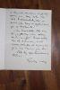 Lettre autographe signée à Aurélien Scholl. Gaston Méry (1866-1909), journaliste, pamphlétaire d'extrême-droite, rédacteur en chef de La Libre Parole, ...