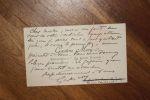 Carte autographe signée à Aurélien Scholl. Gaston Méry (1866-1909), journaliste, pamphlétaire d'extrême-droite, rédacteur en chef de La Libre Parole, ...