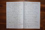 Lettre autographe signée à Aurélien Scholl. Joseph Méry (1797-1866), écrivain, poète, ami de Dumas père et de Nerval.